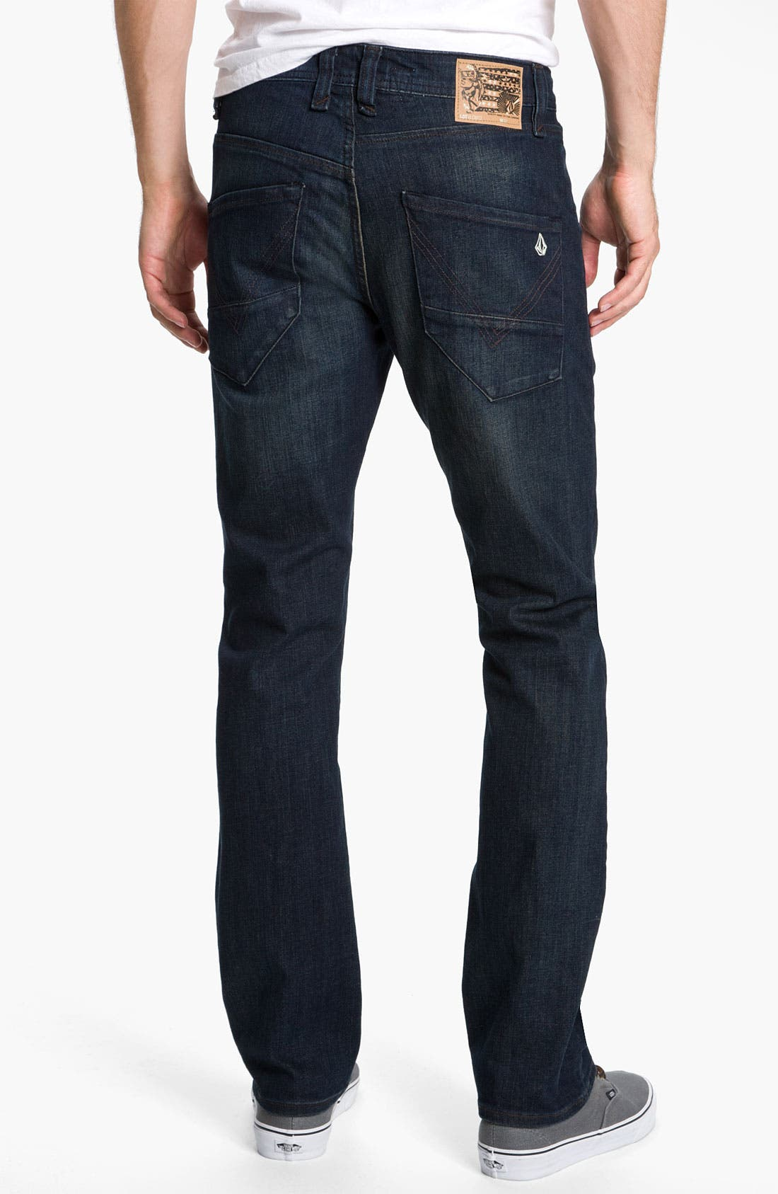 Alternate Image 1 Selected - Volcom 'Nova' Slim Straight Leg Jeans (Dark Room Stretch) (Online Exclusive)