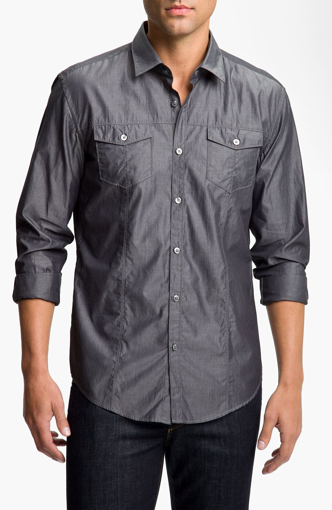 Alternate Image 1 Selected - BOSS Black 'Rex' Slim Fit Sport Shirt