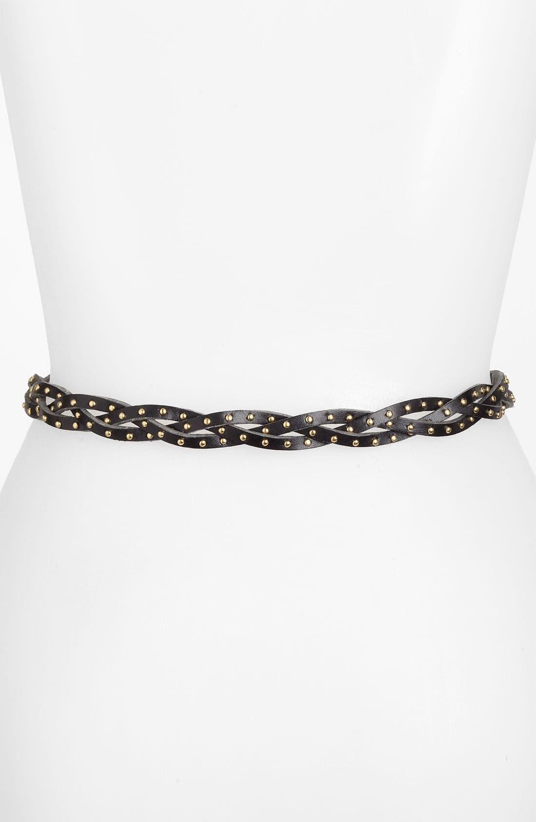Alternate Image 2  - Lulu Studded Braid Belt