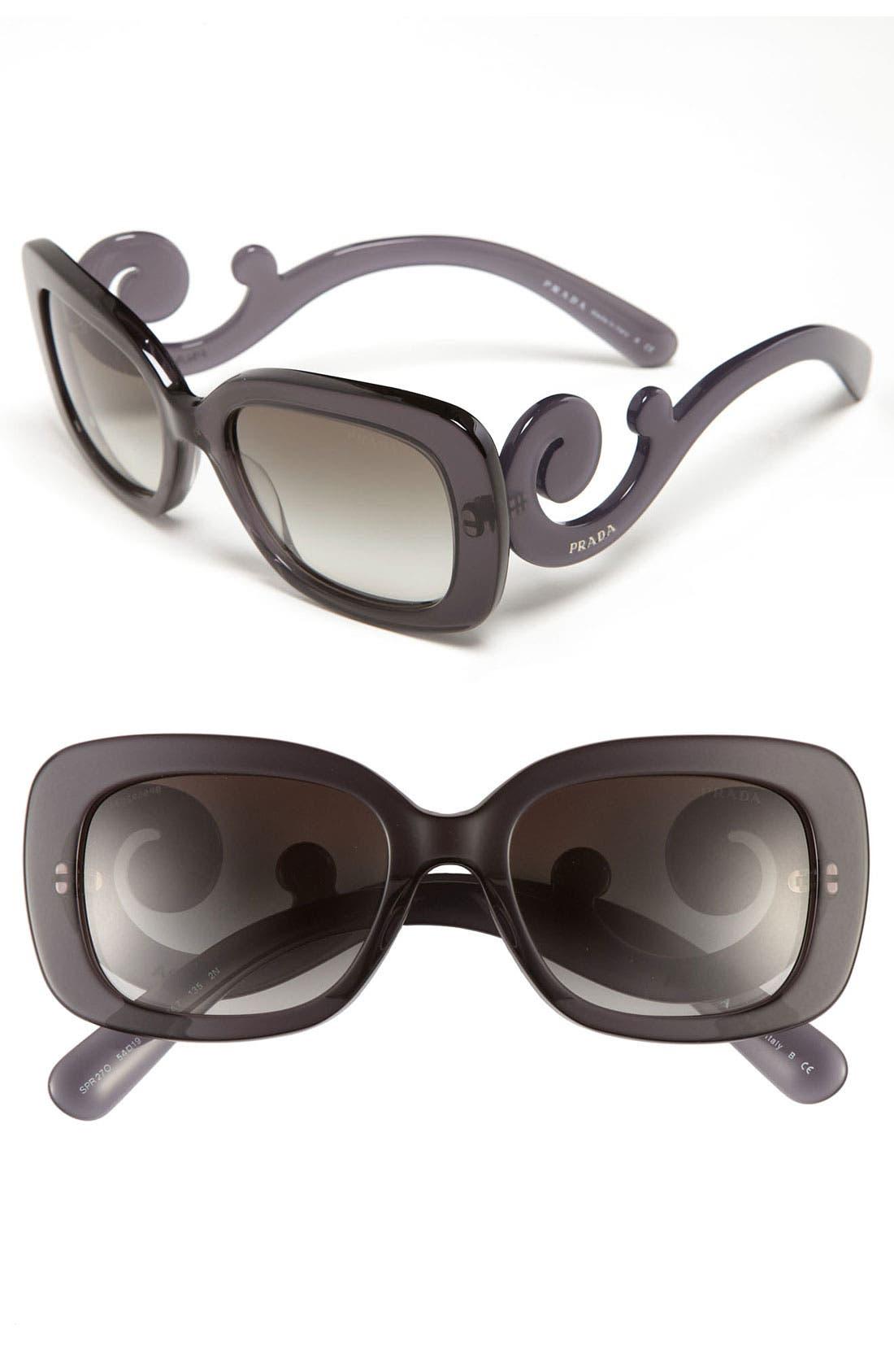 Alternate Image 1 Selected - Prada 'Baroque' 54mm Sunglasses