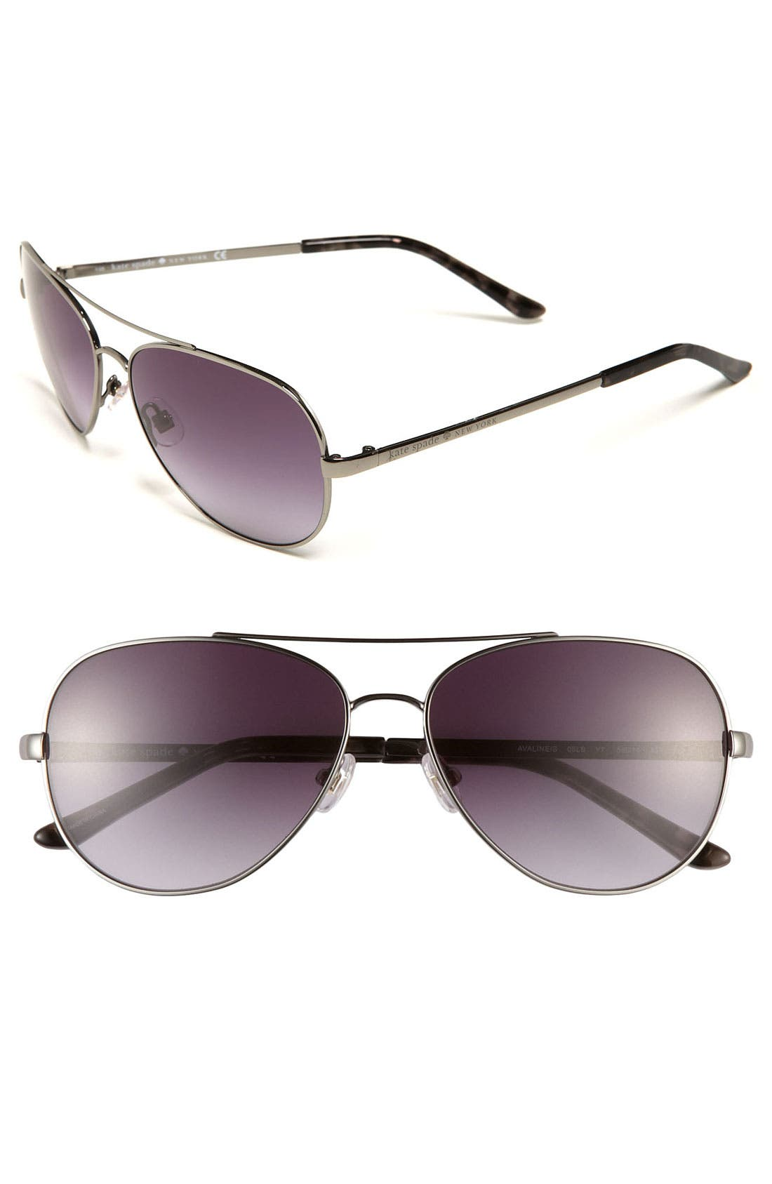 Main Image - kate spade new york 'avaline' 58mm aviator sunglasses