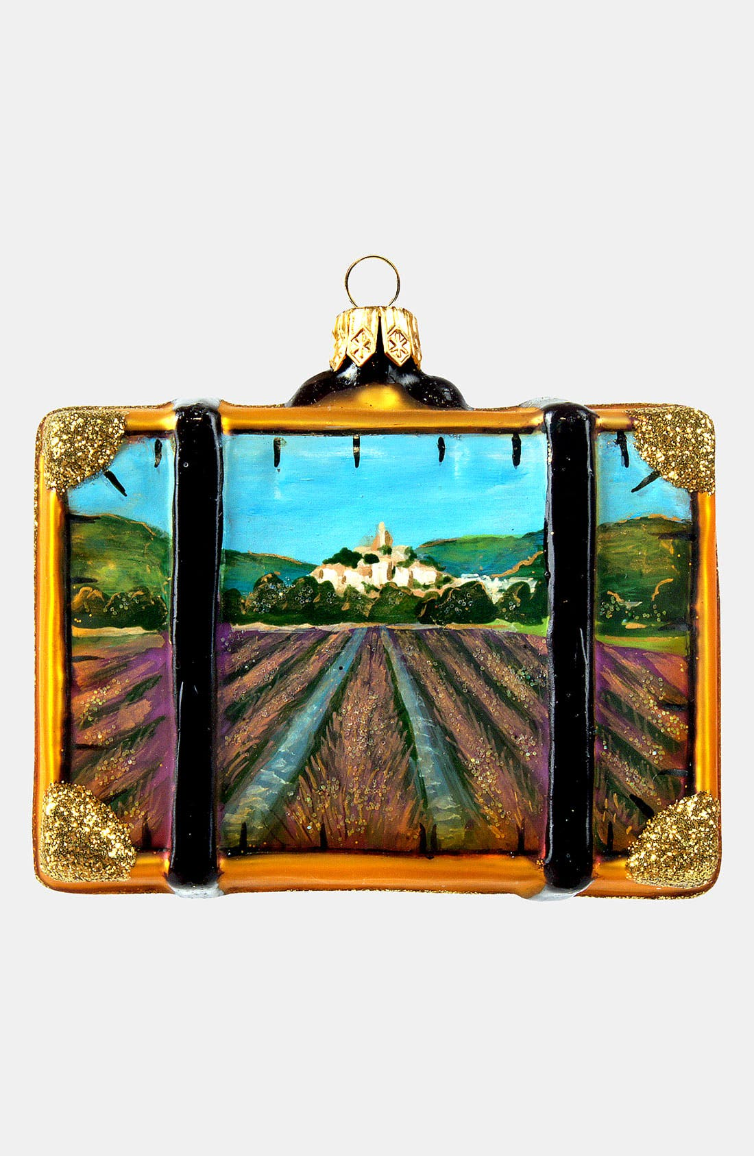 Alternate Image 2  - Nordstrom at Home 'Provence' Glass Suitcase Ornament