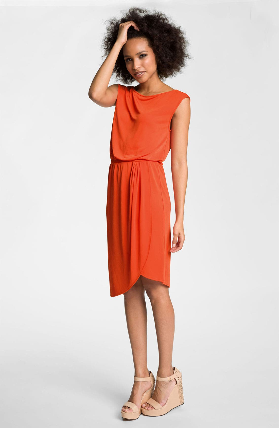Main Image - Trouvé Draped Faux Wrap Dress