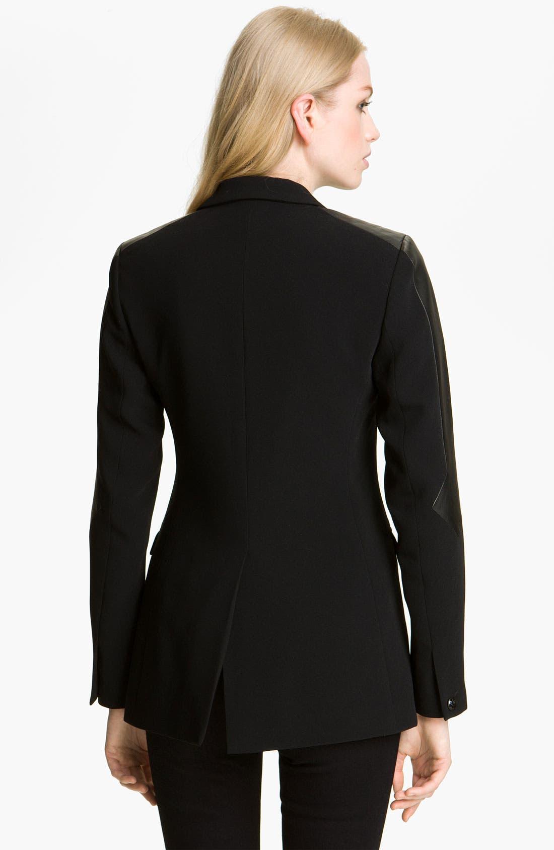 Alternate Image 2  - rag & bone 'Gayatri' Leather Trim Blazer