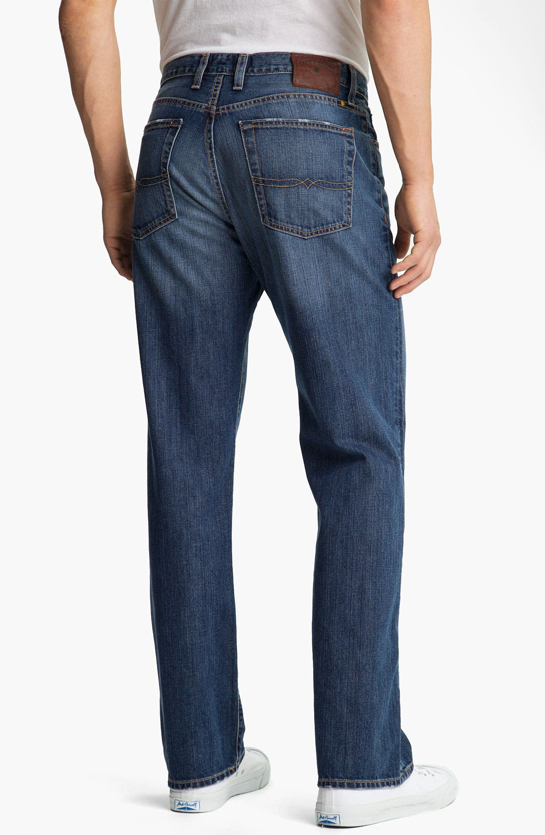 Alternate Image 2  - Lucky Brand '181' Relaxed Straight Leg Jeans (Medium Clarksville)