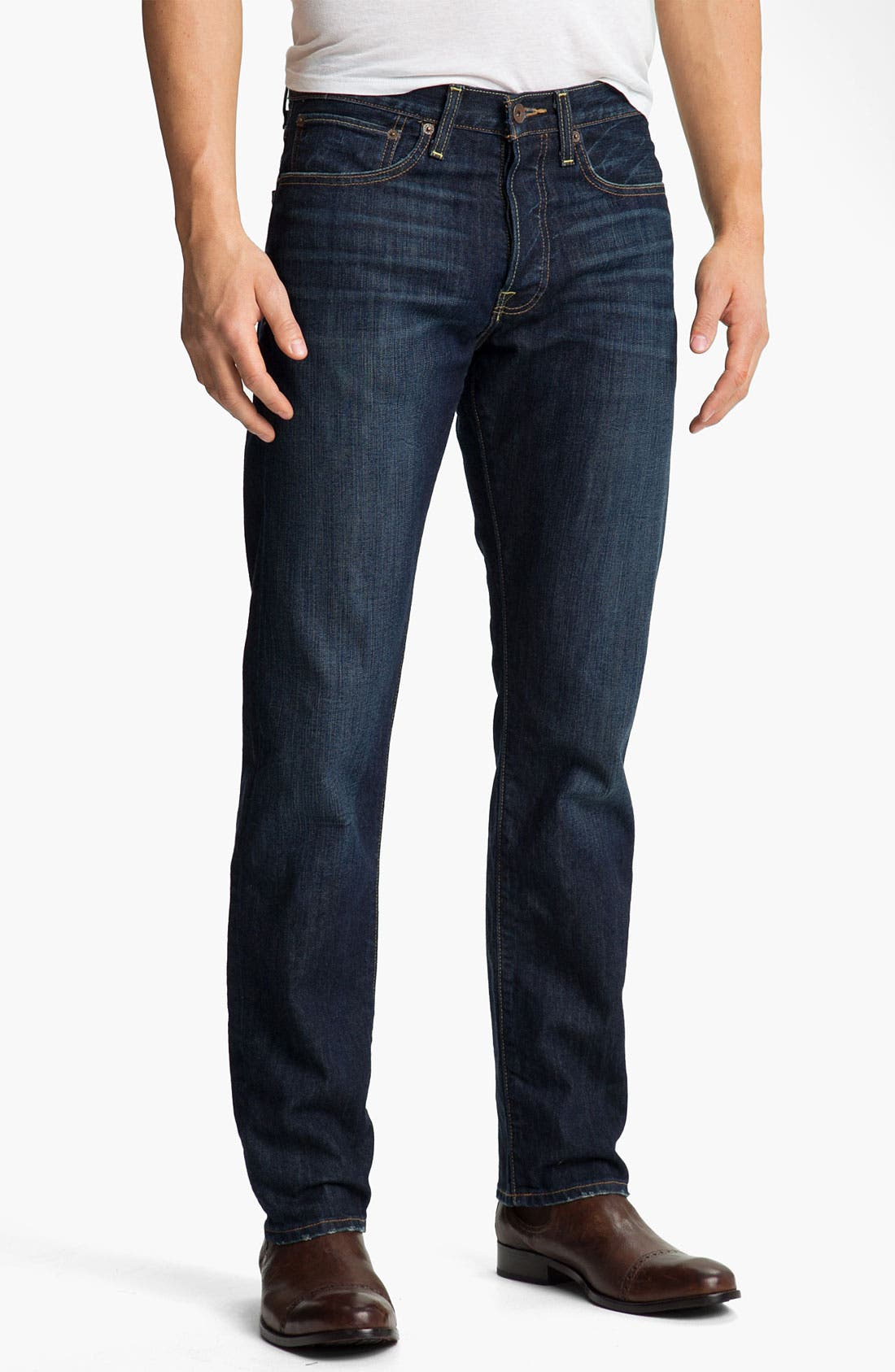 Alternate Image 1 Selected - Lucky Brand '123 Heritage' Slim Straight Leg Jeans (Ol' Occidental)