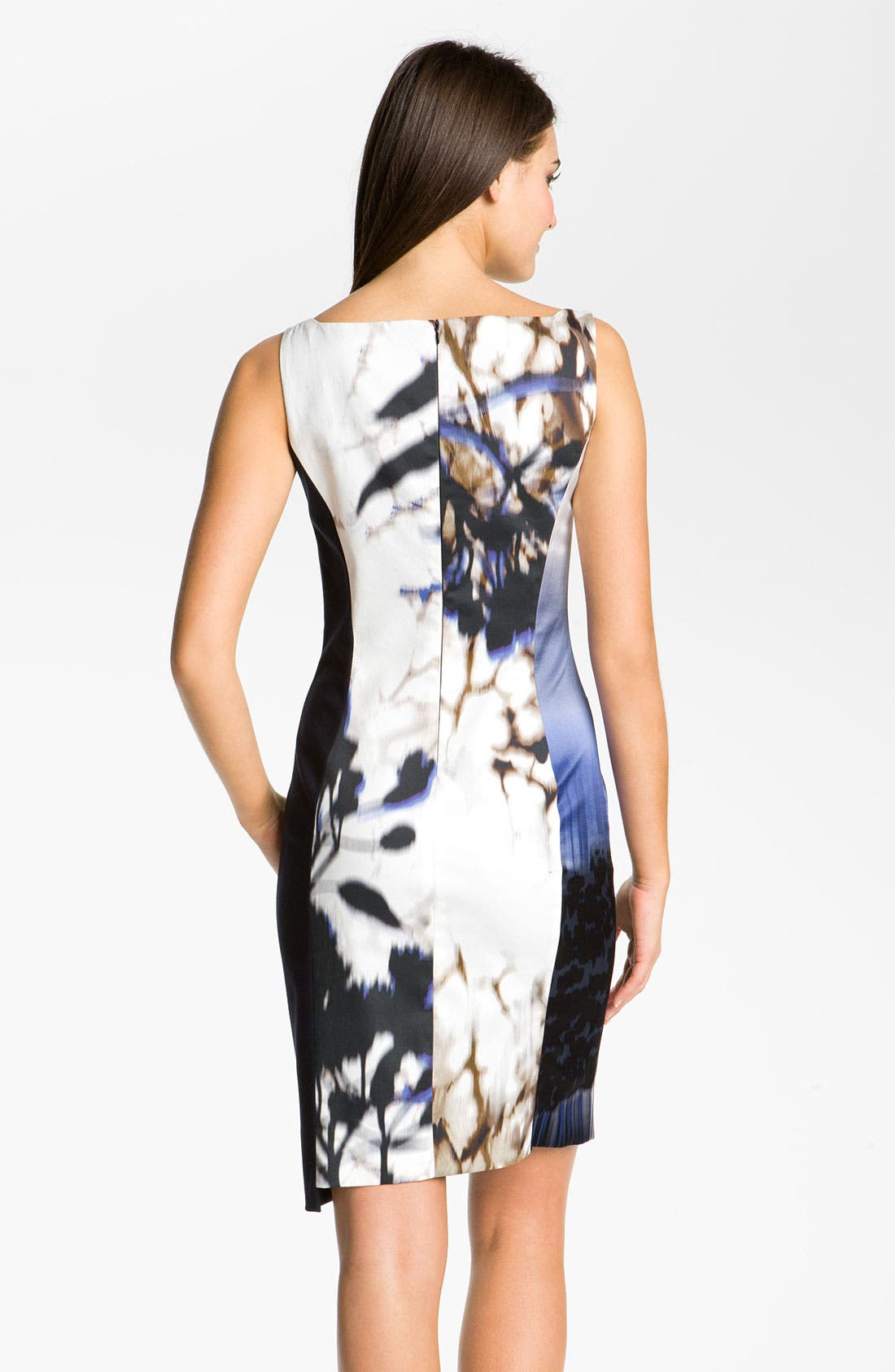 Alternate Image 2  - Elie Tahari 'Margie' Print Charmeuse Sheath Dress