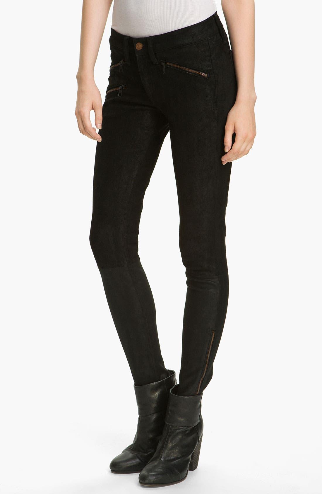 Main Image - rag & bone/JEAN Stretch Leather Leggings