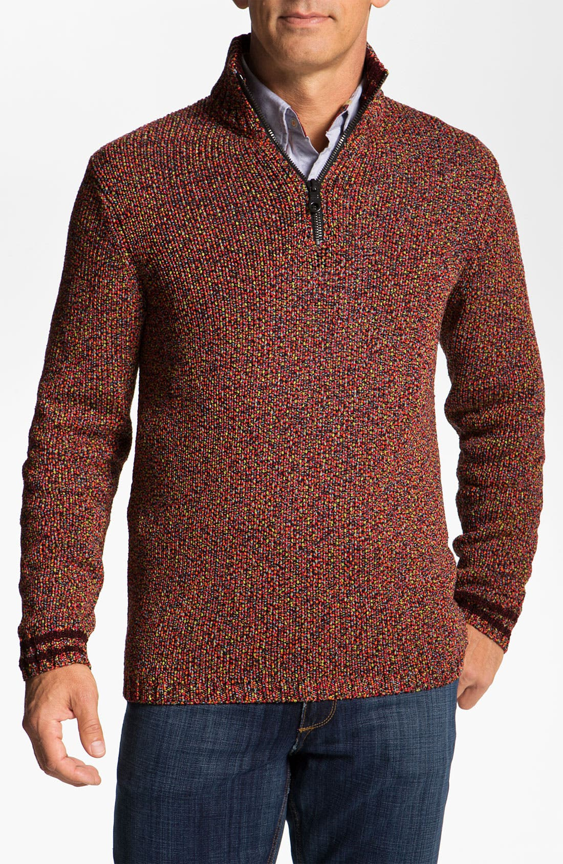 Alternate Image 1 Selected - Robert Graham 'Hastings' Quarter-Zip Sweater (Limited Edition)