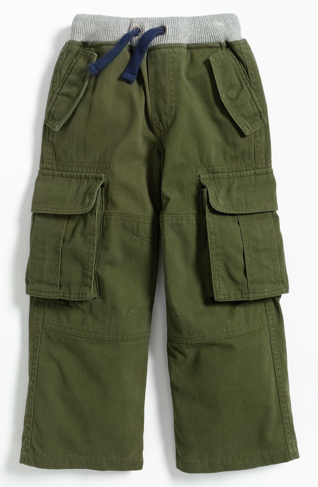 Alternate Image 1 Selected - Mini Boden Ribbed Waist Cargo Pants (Little Boys)