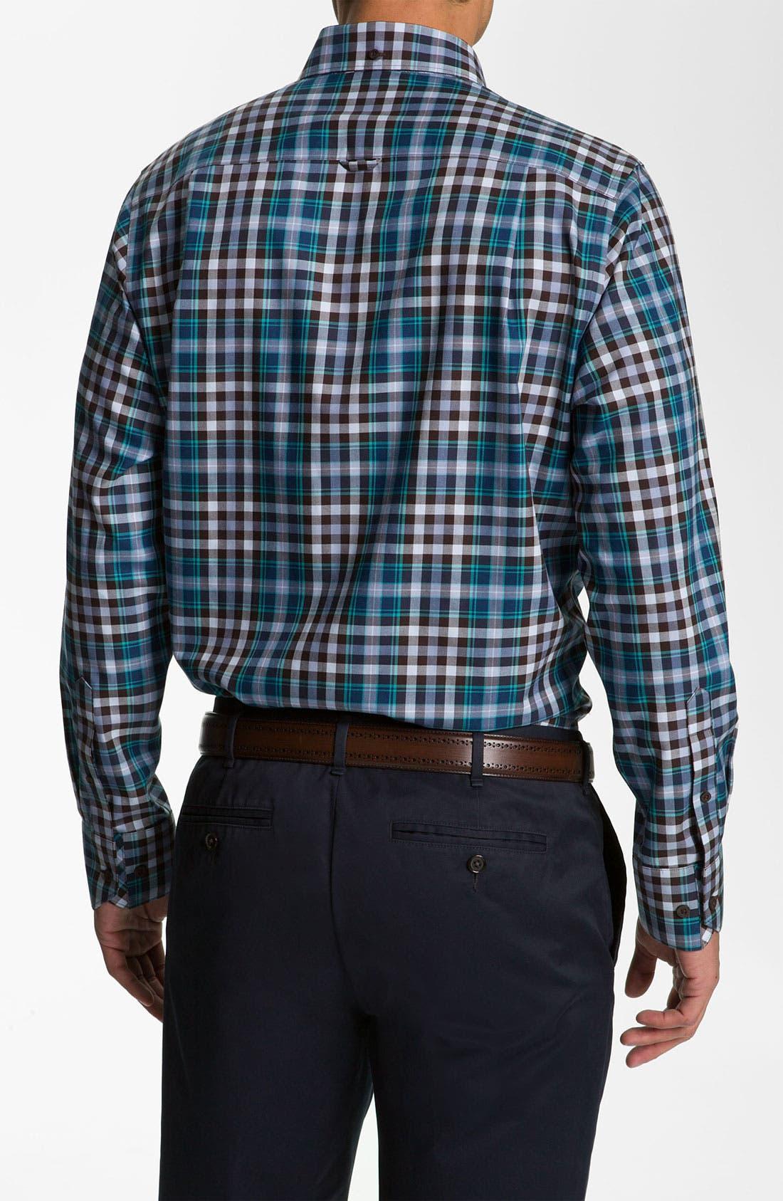 Alternate Image 2  - Nordstrom Smartcare™ Regular Fit Twill Sport Shirt