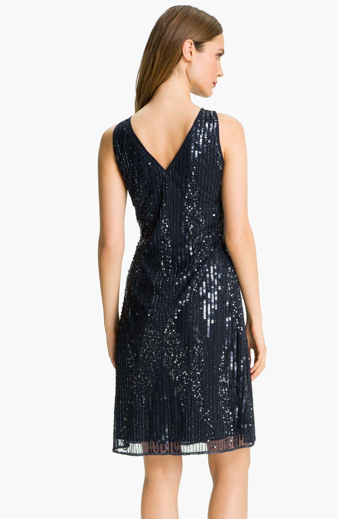 Alternate Image 3  - Patra Embellished Double V-Neck Mesh Dress & Sheer Bolero