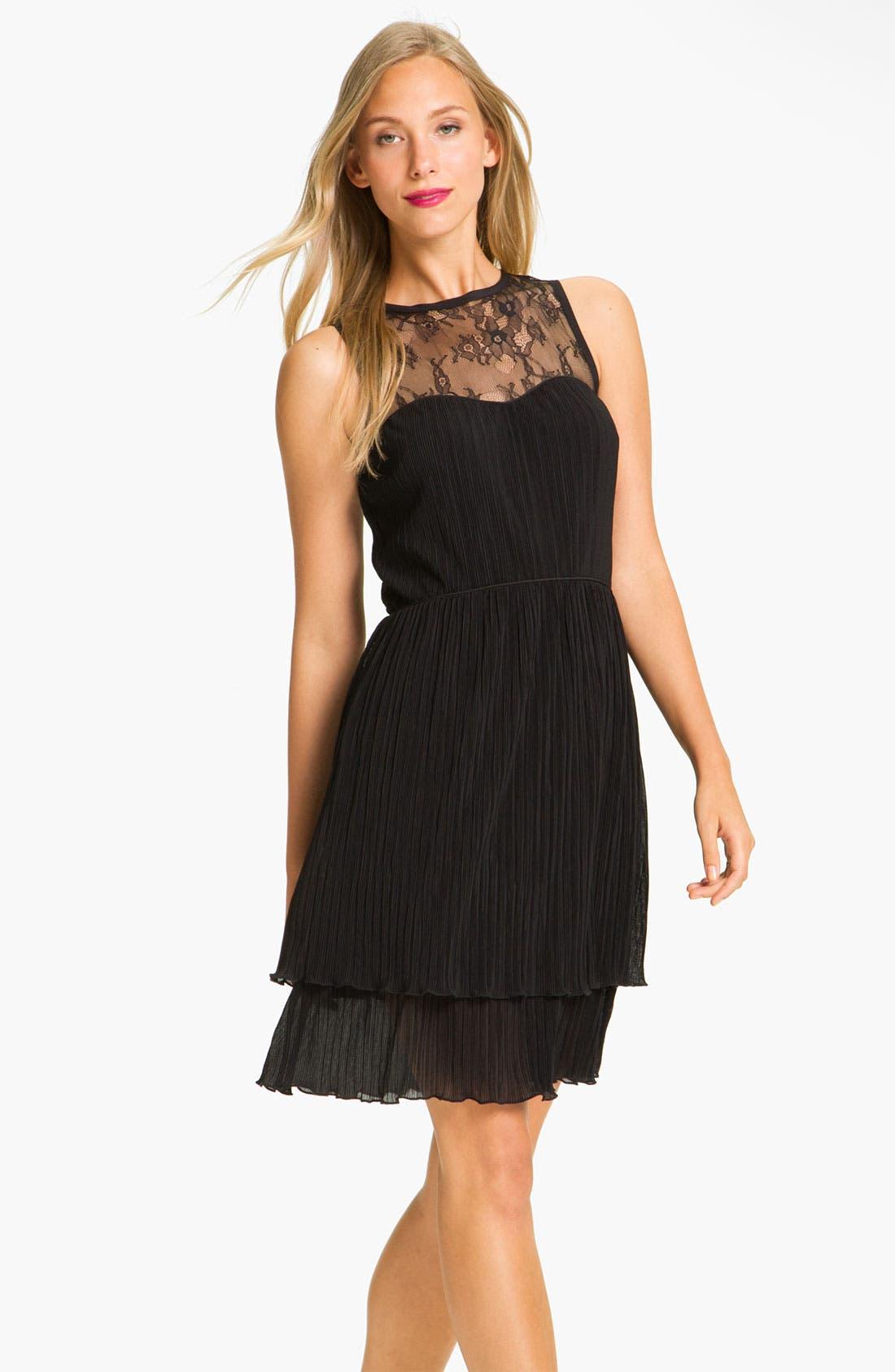 Alternate Image 1 Selected - Jessica Simpson Lace Yoke Tiered Chiffon Dress