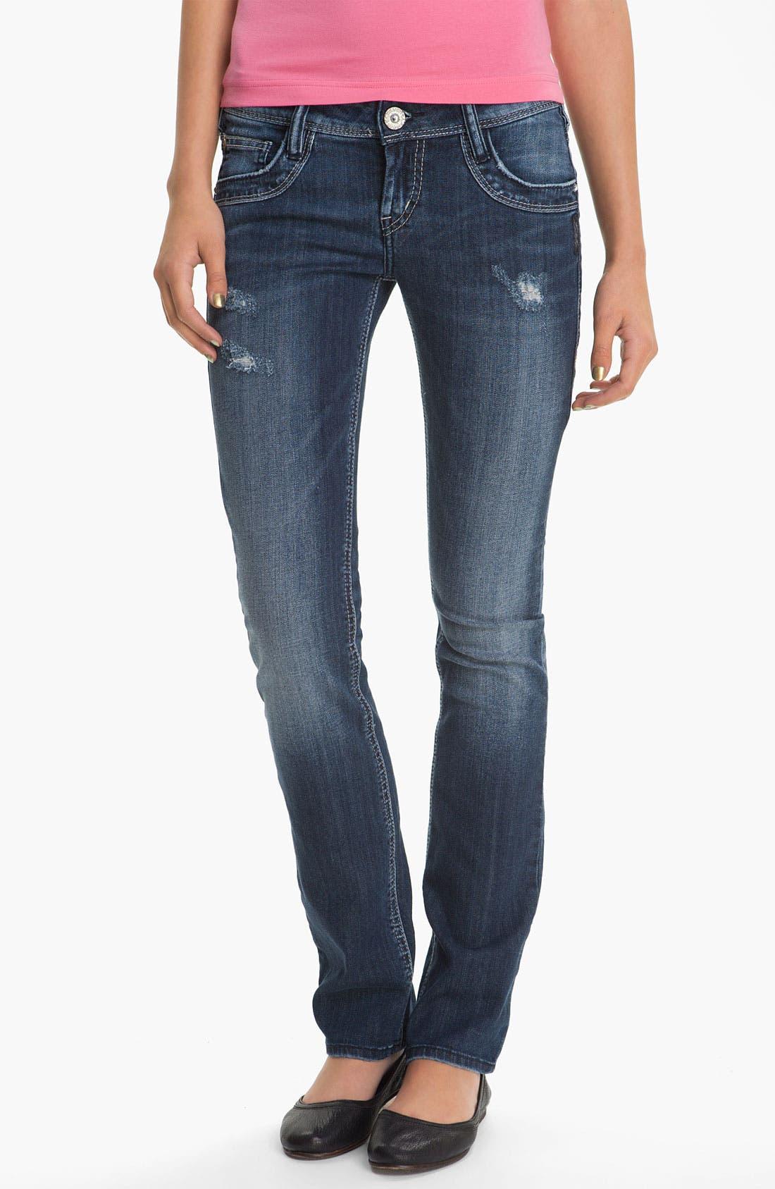 Alternate Image 2  - Silver Jeans Co. 'Manchester' Straight Leg Jeans (Juniors)