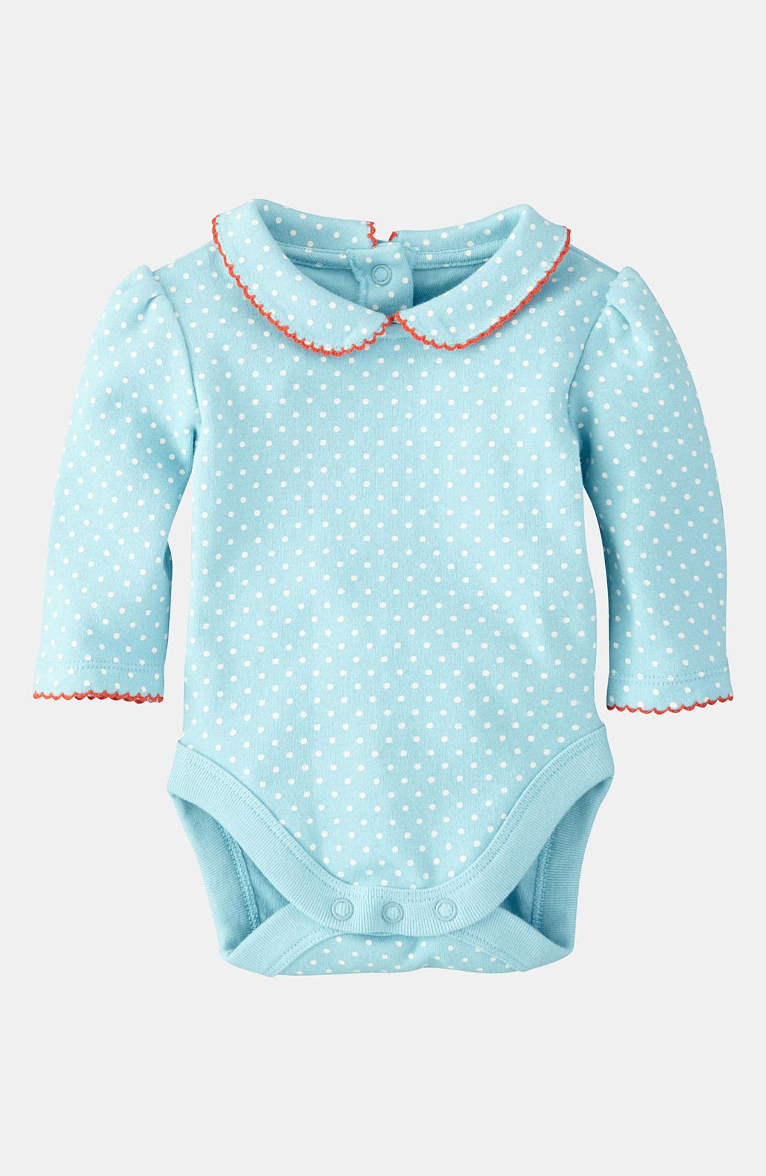 Main Image - Mini Boden 'Pretty' Collar Bodysuit (Infant)