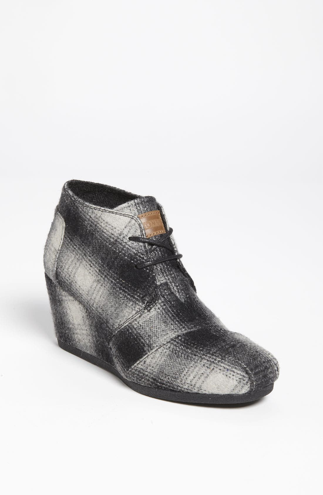 Alternate Image 1 Selected - TOMS 'Desert - Plaid' Wedge