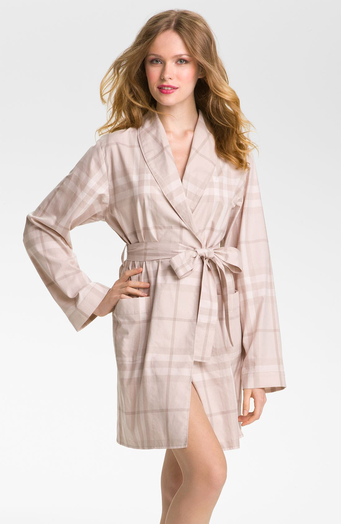 Alternate Image 1 Selected - Burberry Check Robe