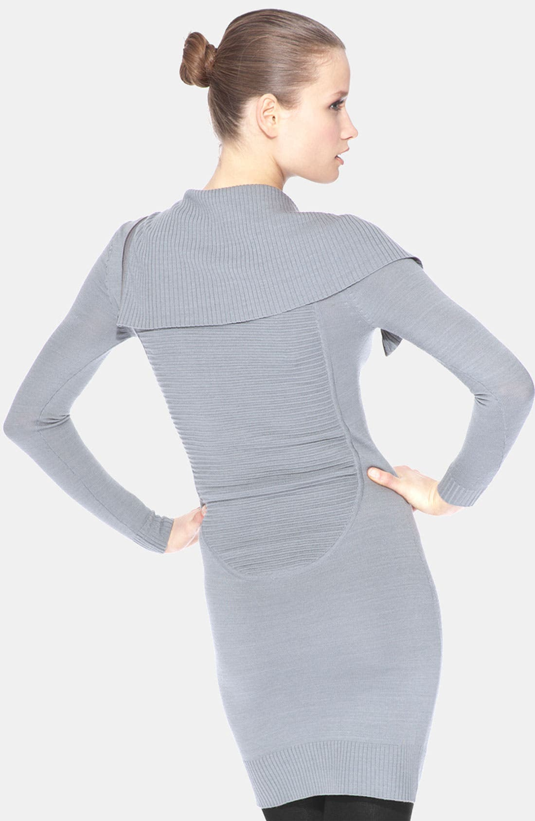 Alternate Image 2  - Marc New York by Andrew Marc Front Zip Asymmetrical Sweater Dress