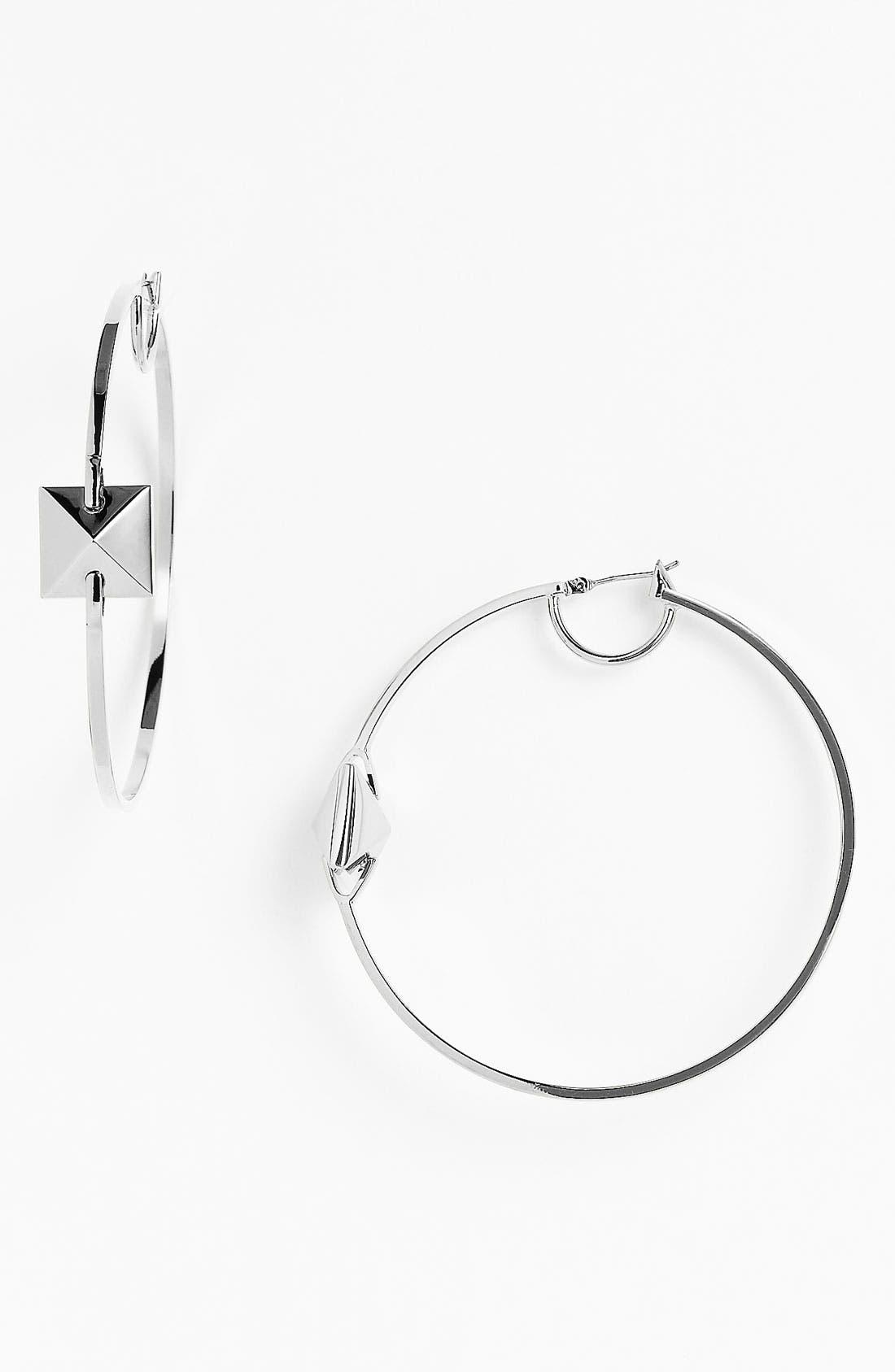 Alternate Image 1 Selected - Vince Camuto 'Basics' Pyramid Hoop Earrings