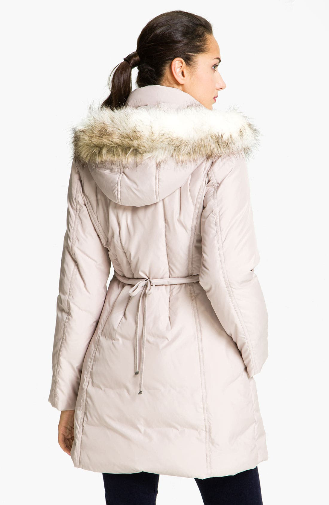 Alternate Image 2  - Betsey Johnson Quilted Walking Coat with Detachable Hood