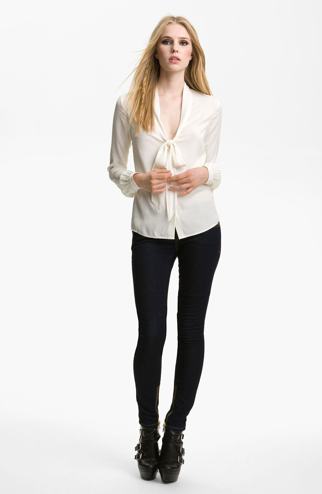 Alternate Image 1 Selected - Rachel Zoe 'Nathalie' Scarf Collar Top