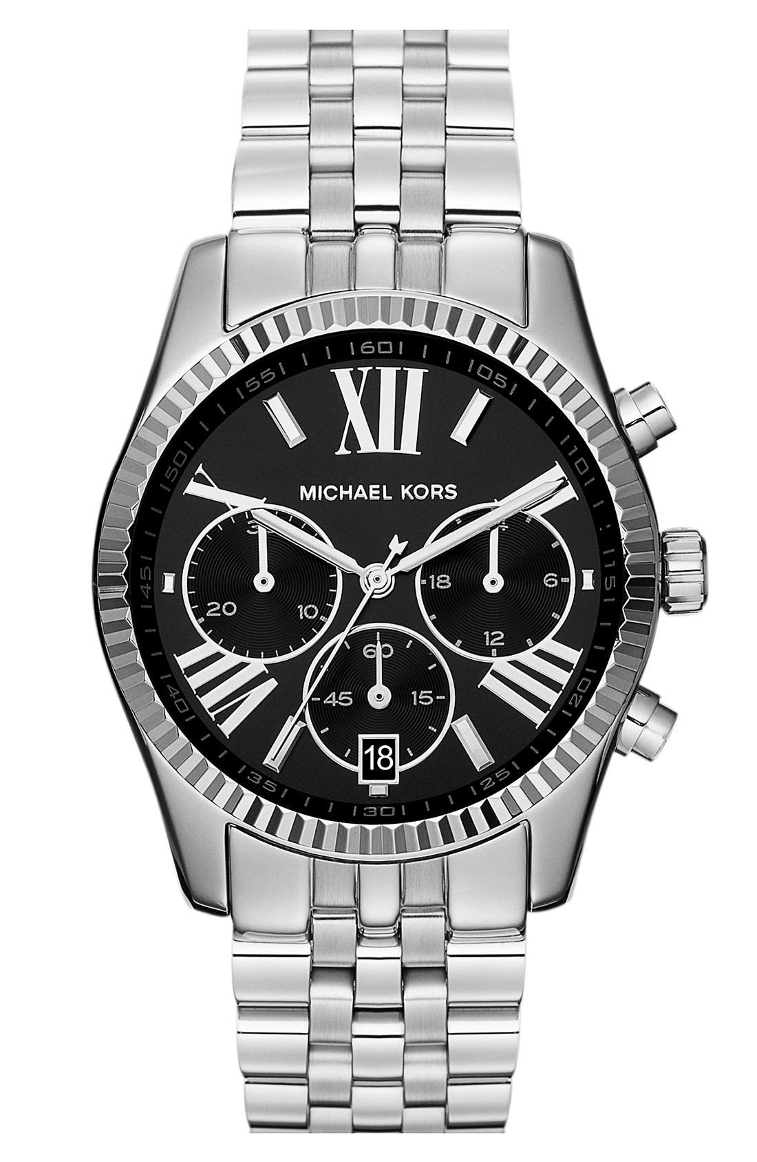 Alternate Image 1 Selected - Michael Kors 'Lexington' Chronograph Bracelet Watch, 38mm (Nordstrom Exclusive)
