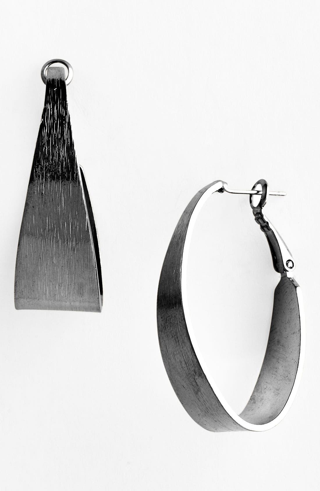 Alternate Image 1 Selected - Natasha Couture Small Clean Line Hoop Earrings