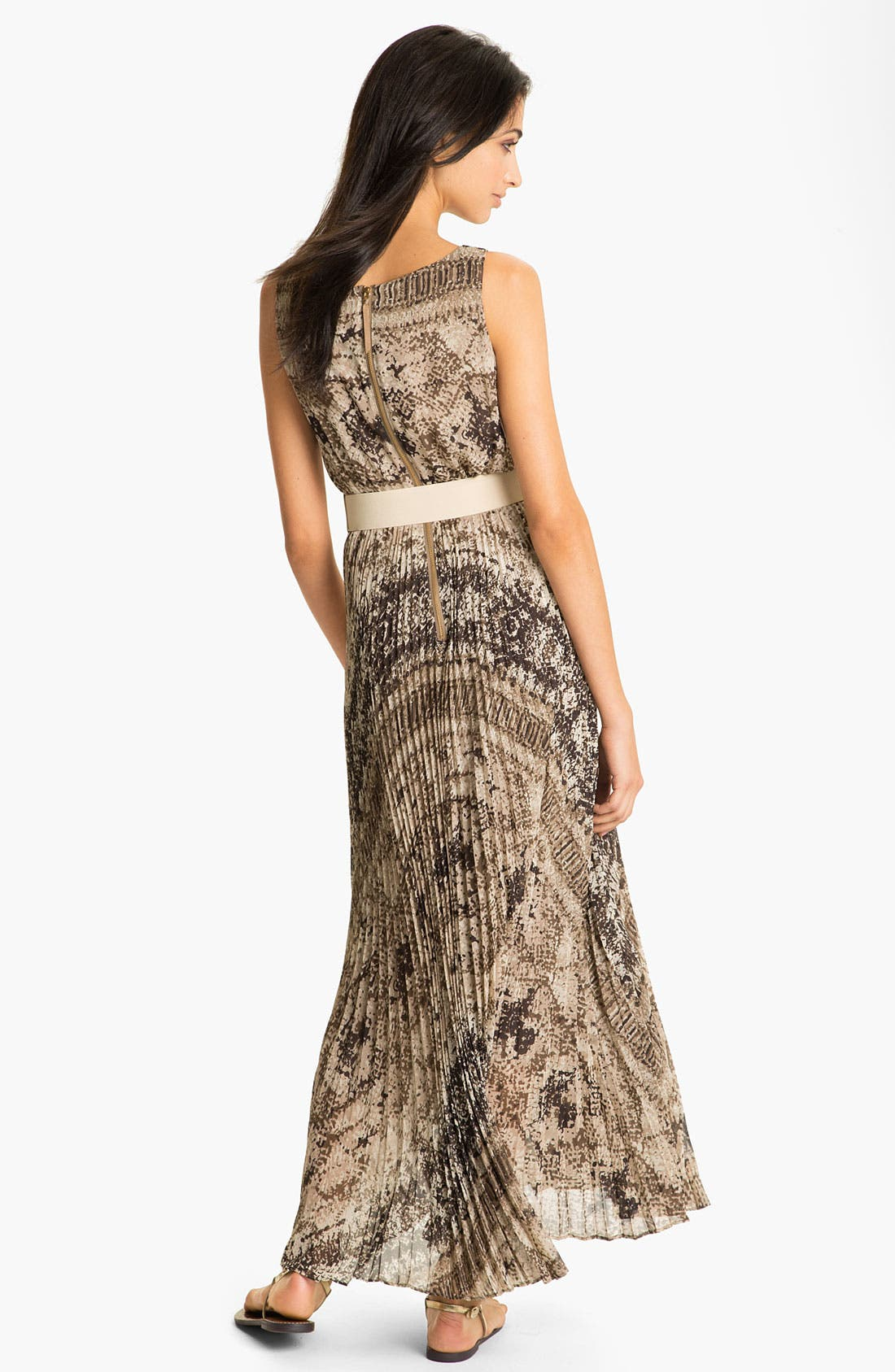 Alternate Image 2  - Eliza J Snakeskin Snake Print Maxi Dress