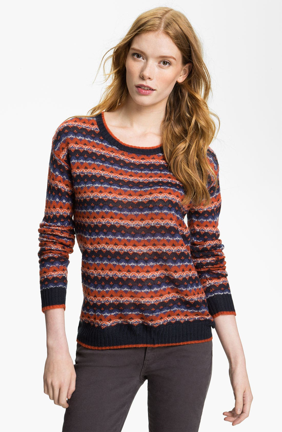 Main Image - Hinge® Pattern Crewneck Sweater