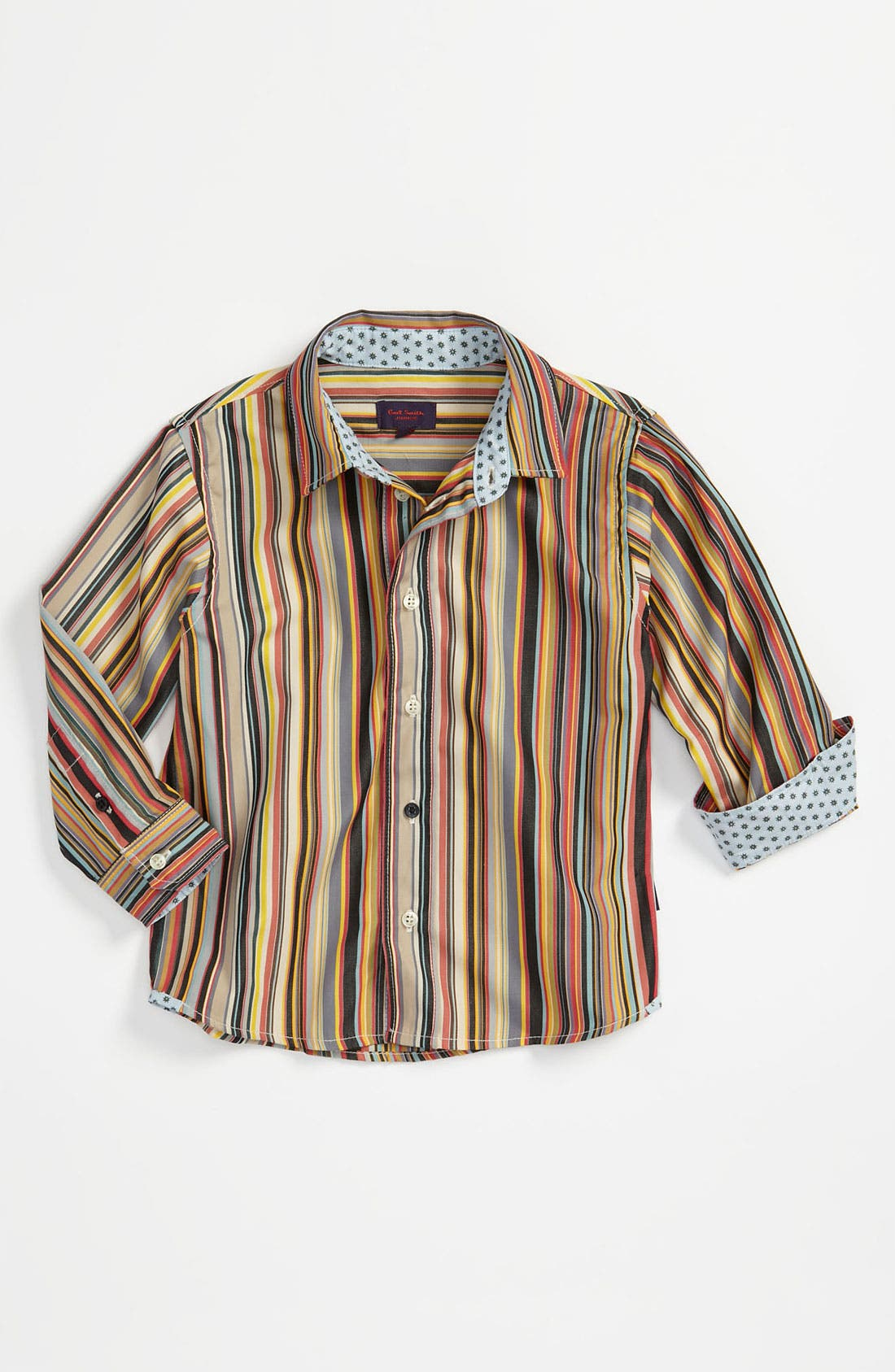 Alternate Image 1 Selected - Paul Smith Junior Stripe Shirt (Infant)