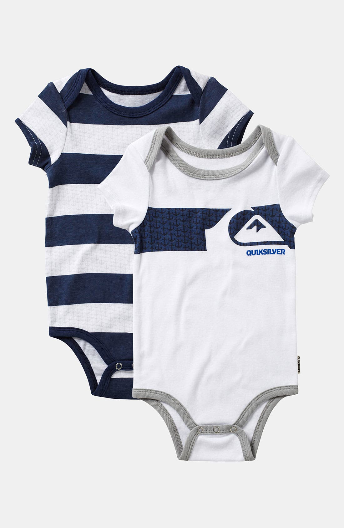 Main Image - Quiksilver Bodysuit (2-Pack) (Infant)