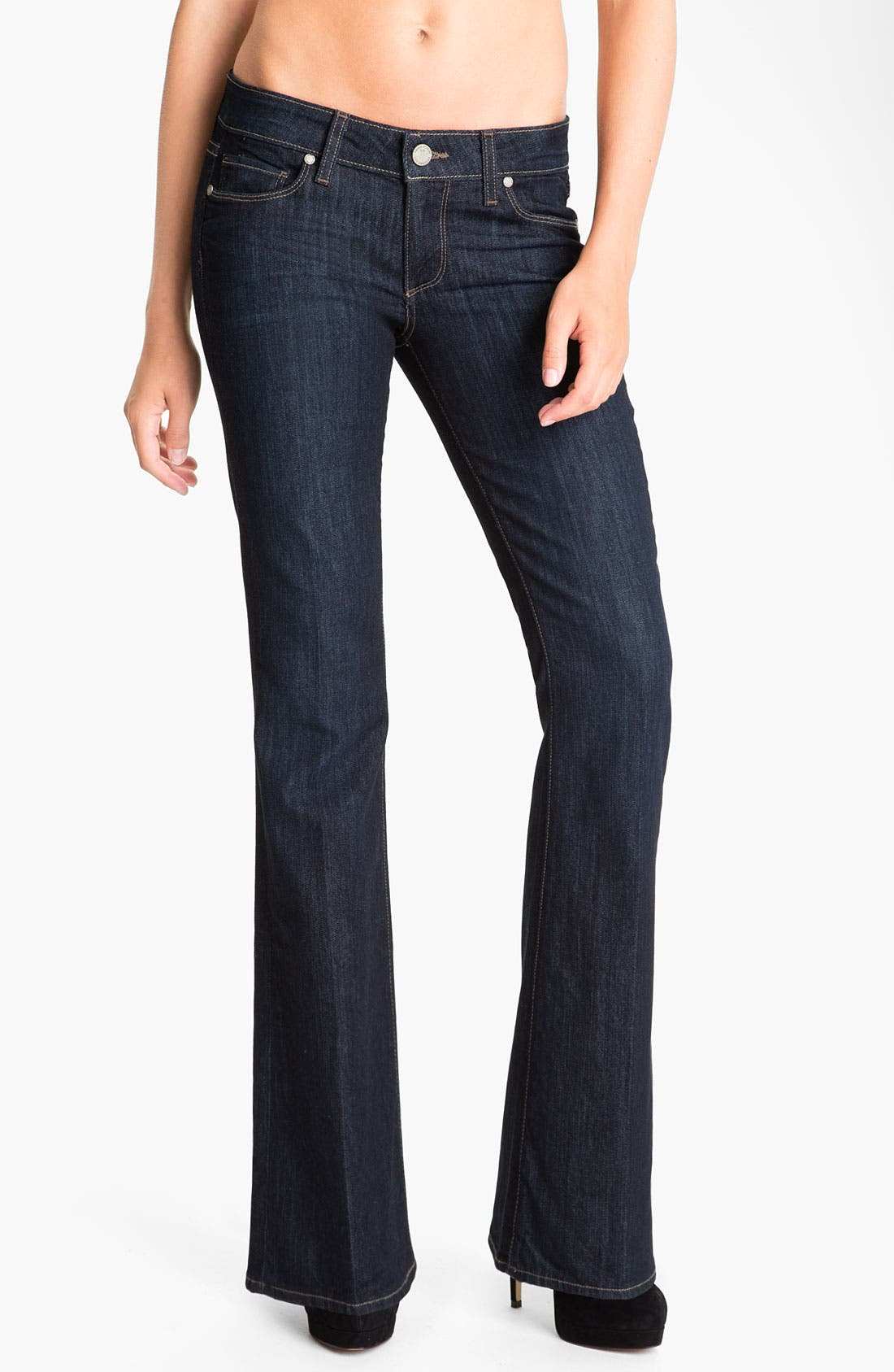Alternate Image 1 Selected - Paige Denim 'Skyline' Bootcut Jeans (Dream) (Petite)