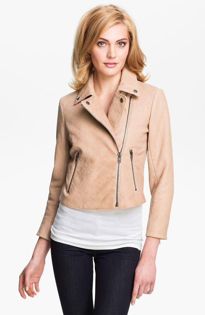 Theory 'Madigan - Juno' Crop Leather Jacket   Nordstrom