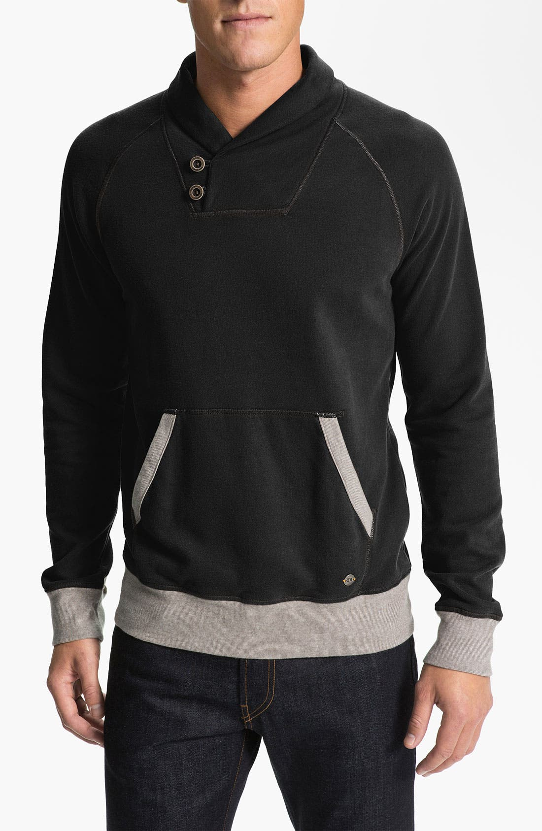 Main Image - BOSS Orange 'Worldly' Shawl Collar Sweatshirt