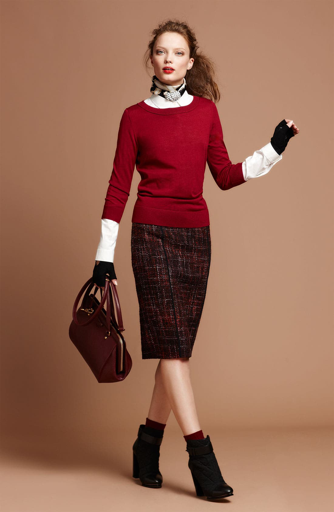 Alternate Image 1 Selected - Halogen® Sweater, Shirt & Skirt