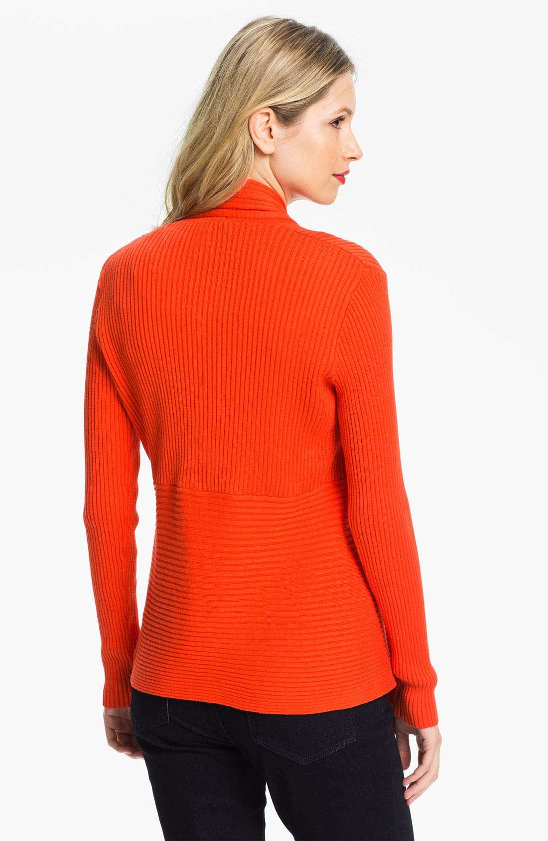 Alternate Image 2  - Chaus Ribbed Open Cardigan