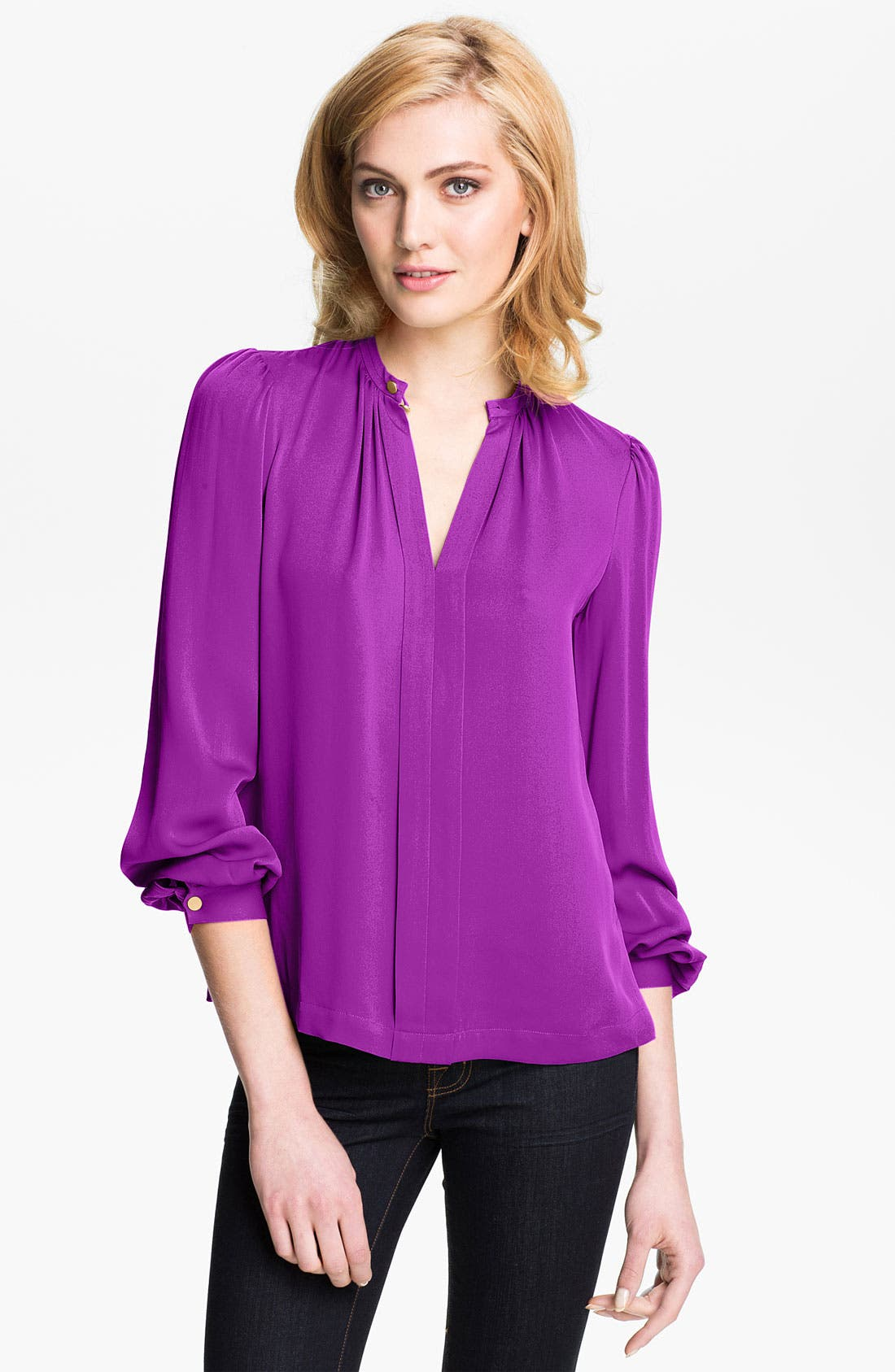 Alternate Image 1 Selected - Diane von Furstenberg 'Billow' Silk Blouse