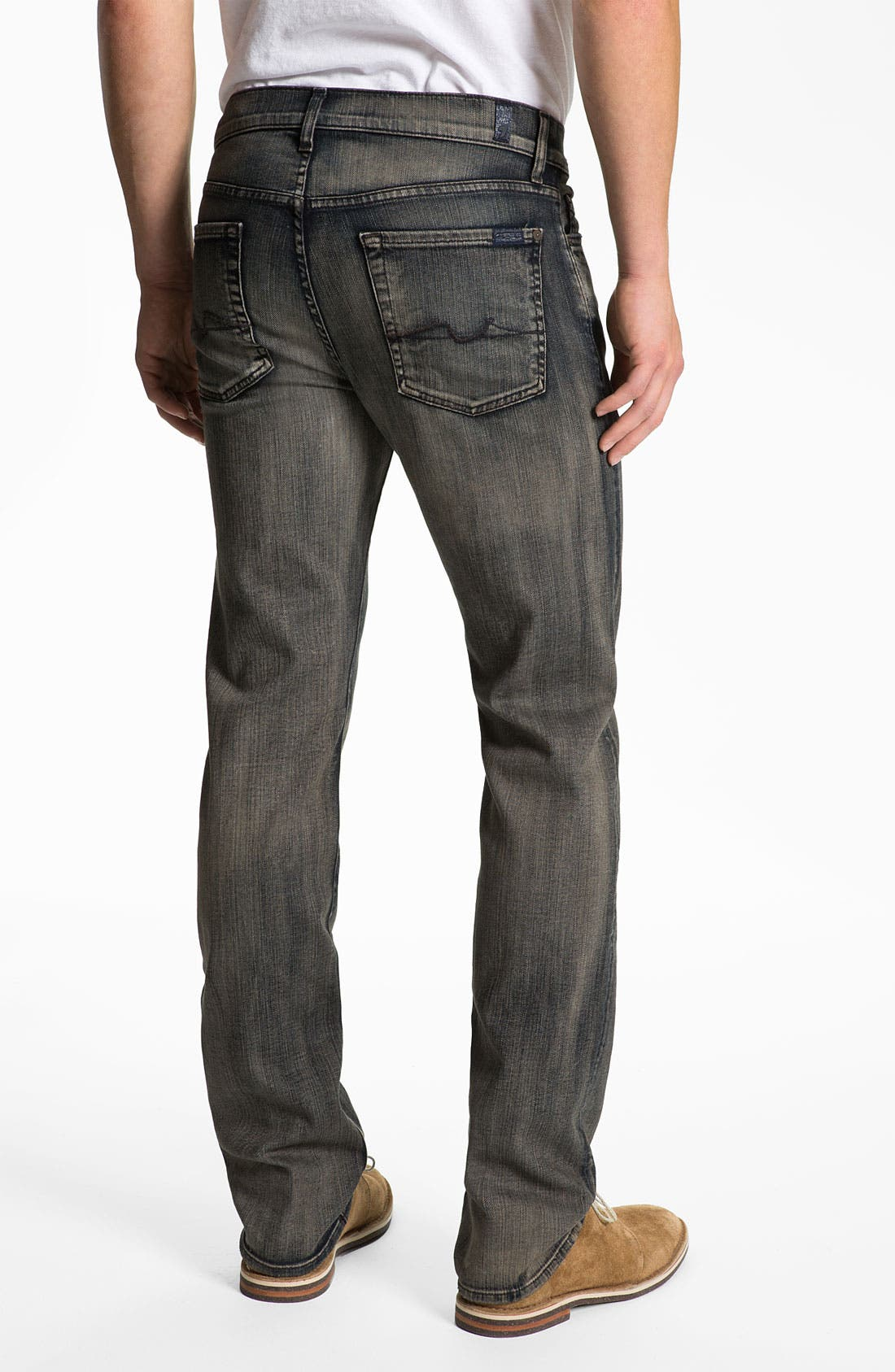 Alternate Image 1 Selected - 7 For All Mankind® 'Slimmy' Slim Straight Leg Jeans (Shadow Cliff)