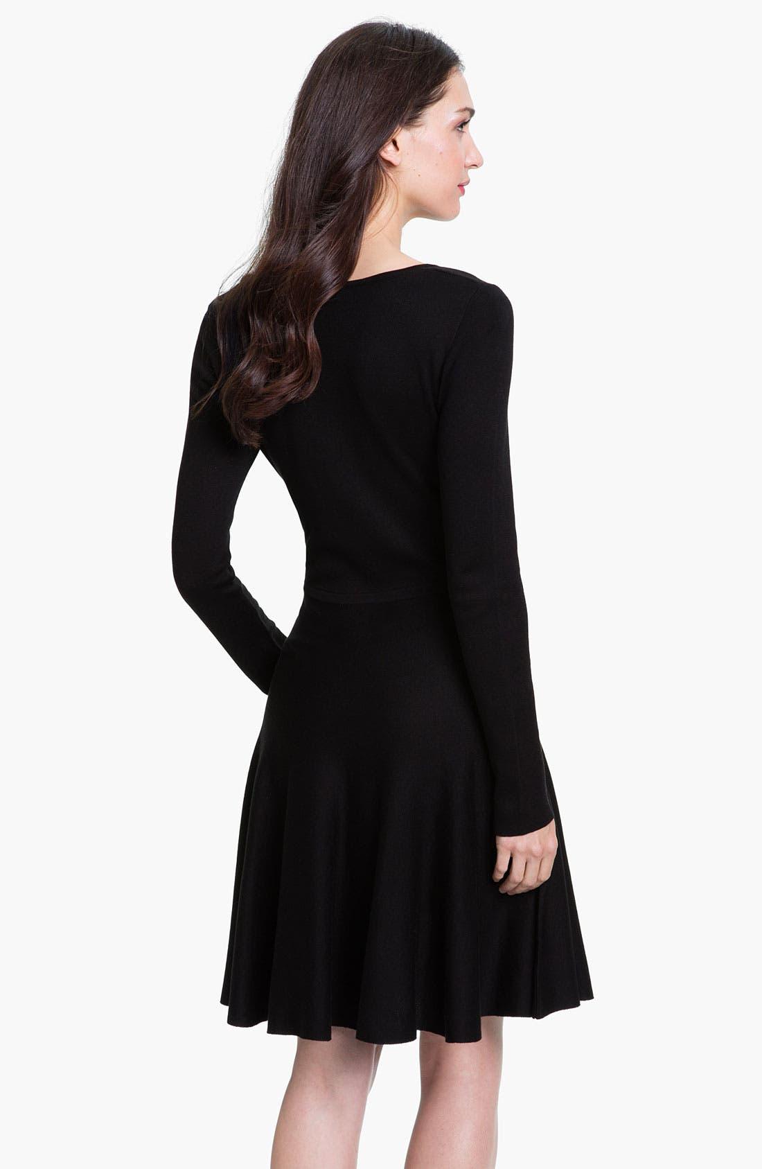 Alternate Image 2  - BCBGMAXAZRIA Silk Blend A-Line Dress