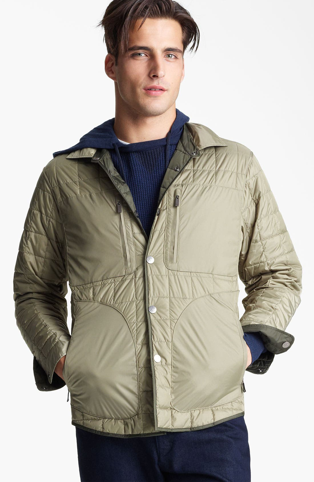 Alternate Image 1 Selected - Zegna Sport Quilted Reversible Jacket