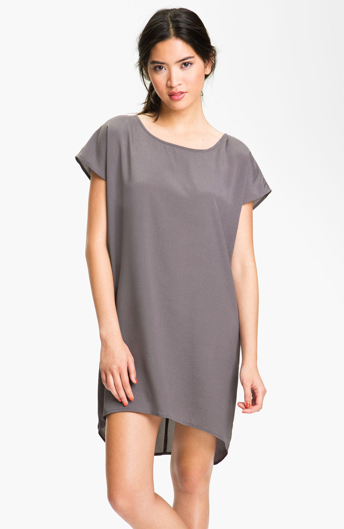 Alternate Image 1 Selected - Frenchi® Boxy High/Low Dress (Juniors)