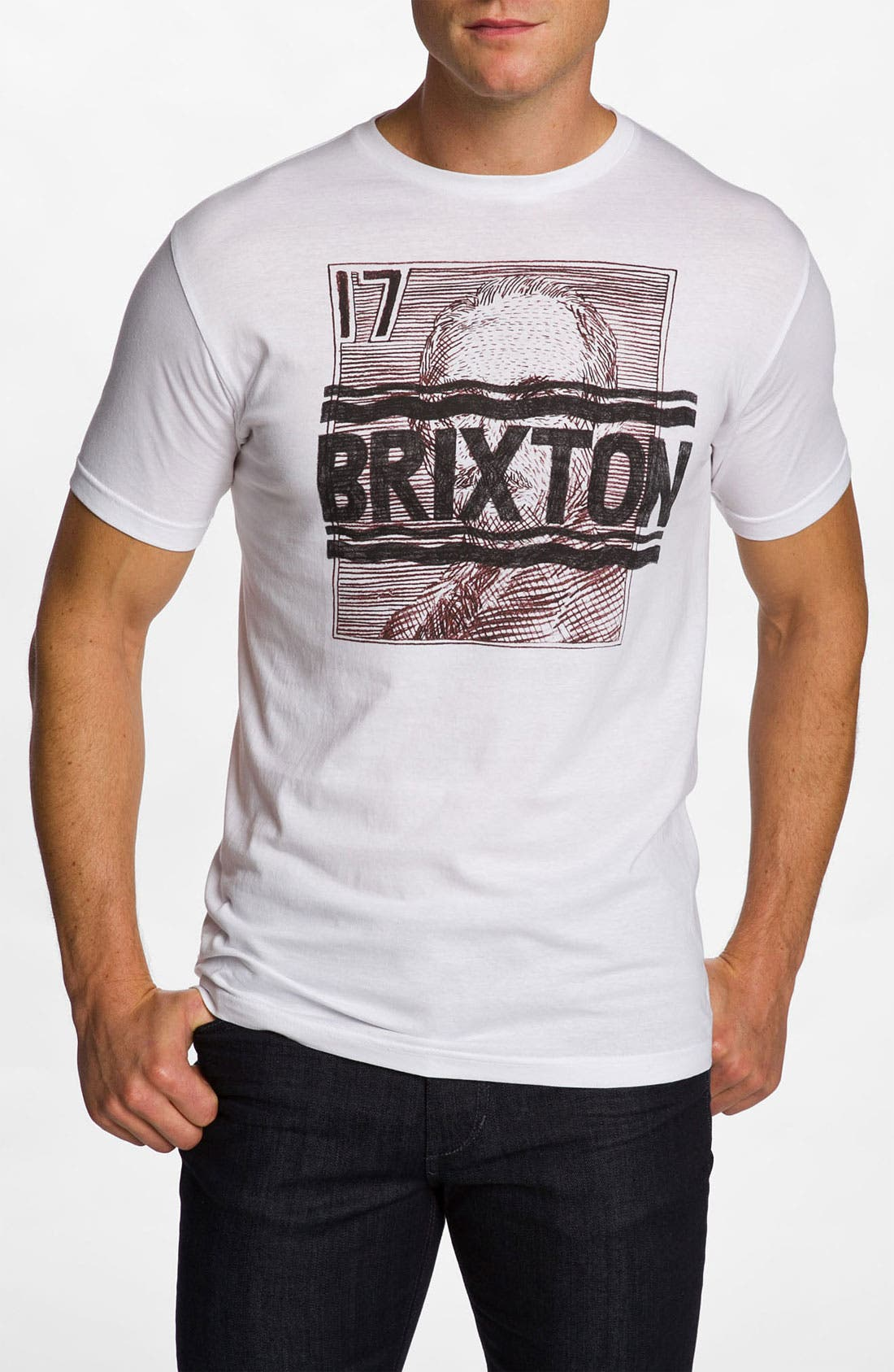 Alternate Image 1 Selected - Brixton 'Courier' Graphic T-Shirt