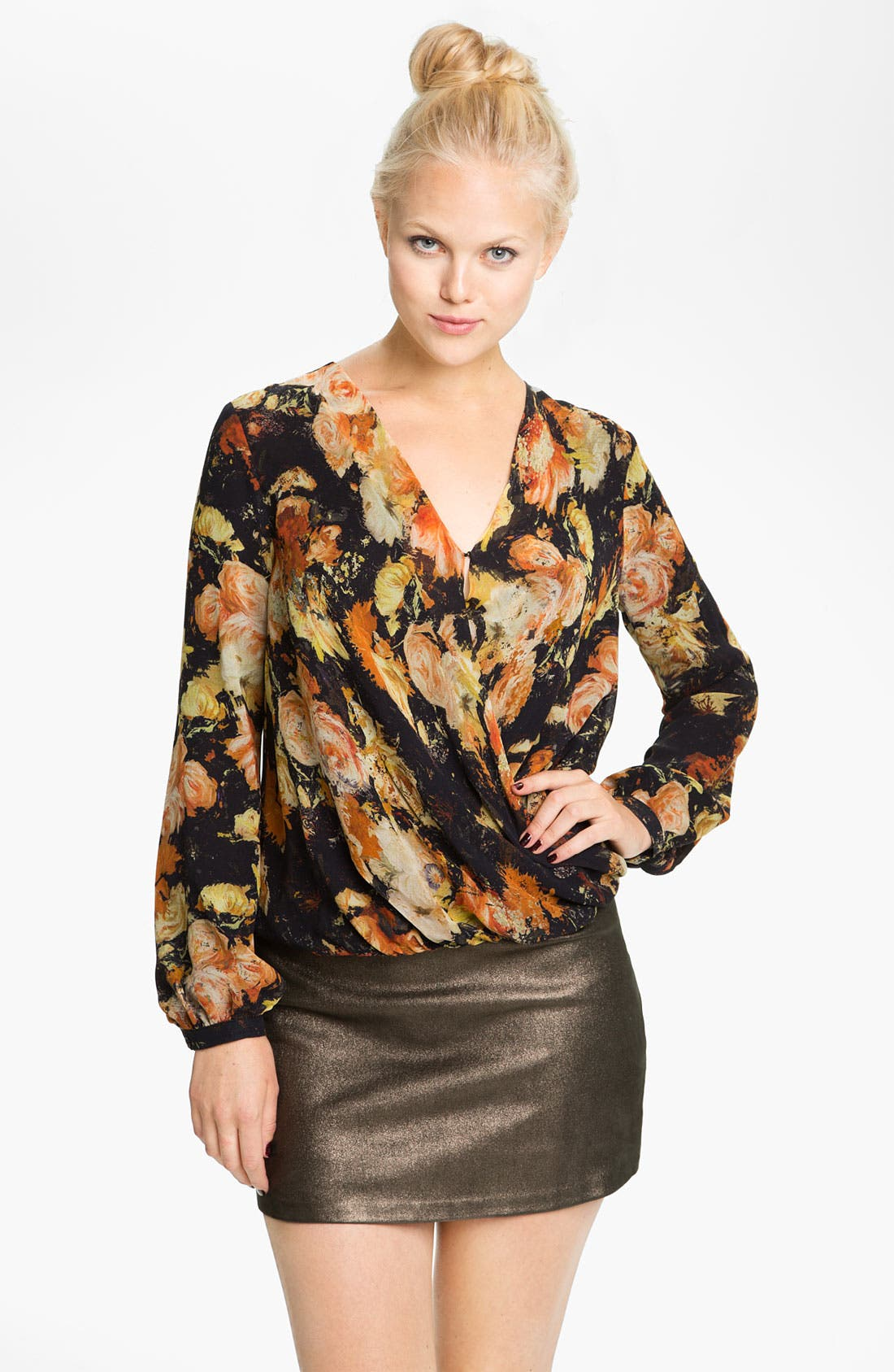 Alternate Image 1 Selected - Haute Hippie 'Since I've Been Loving You' Silk Blouse