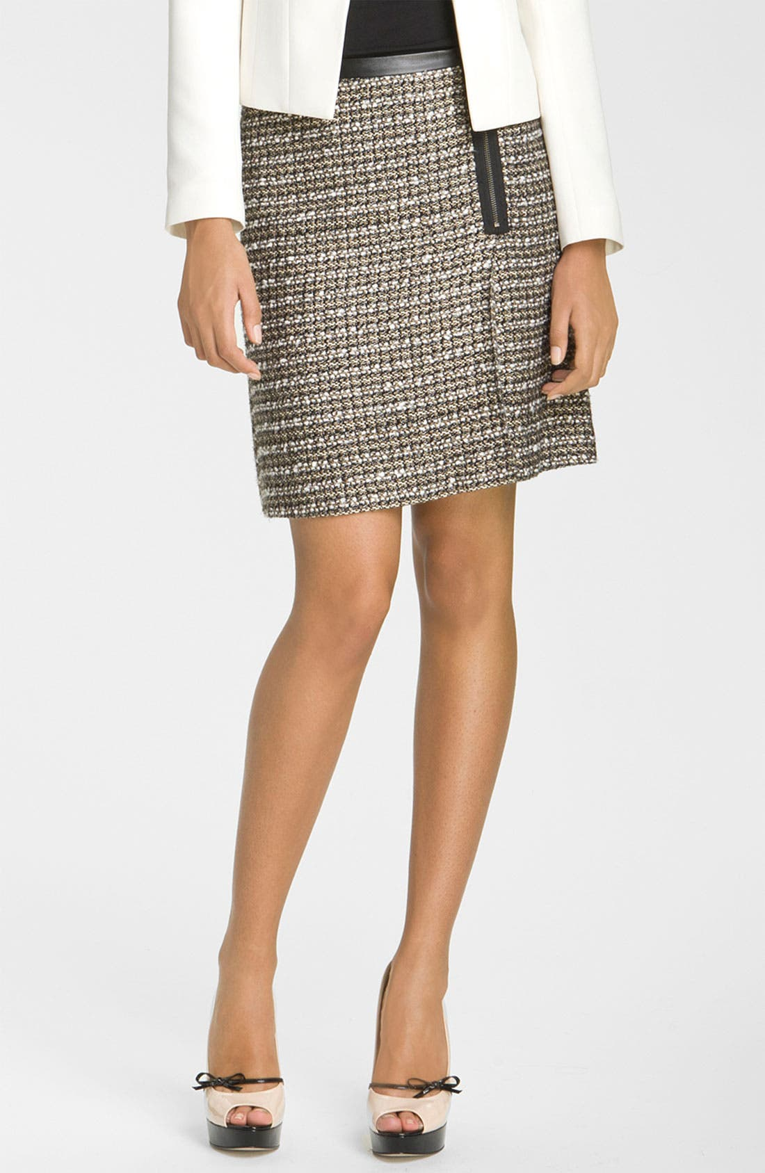 Alternate Image 1 Selected - Halogen® Zip Front A-Line Skirt