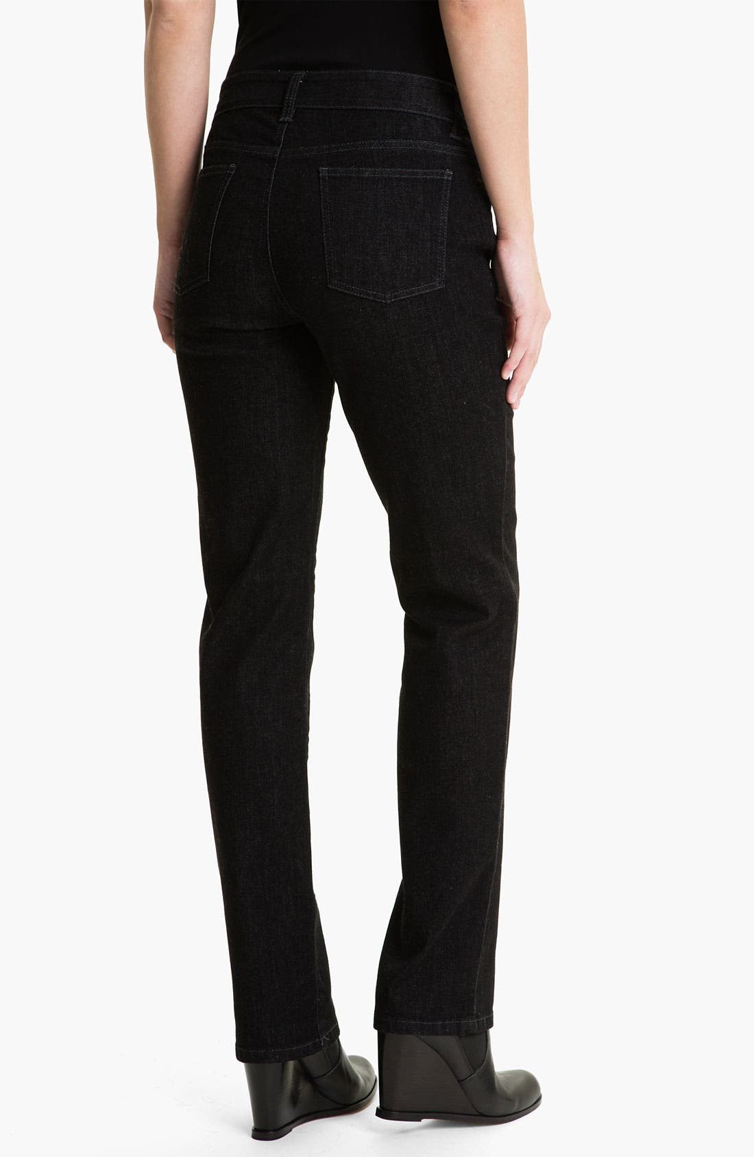Alternate Image 2  - Eileen Fisher Straight Leg Stretch Jeans