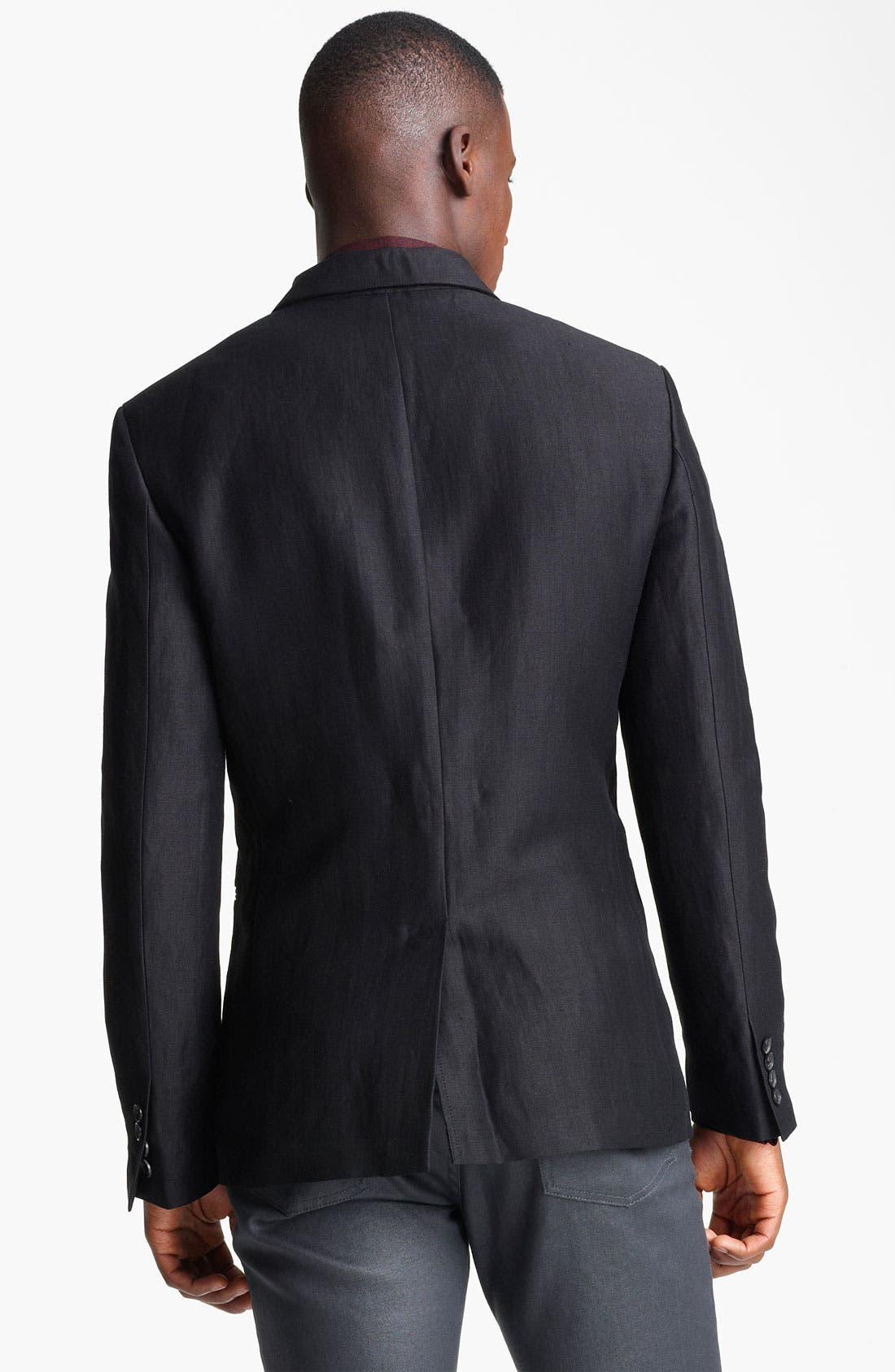 Alternate Image 2  - John Varvatos Collection Linen & Wool Blazer
