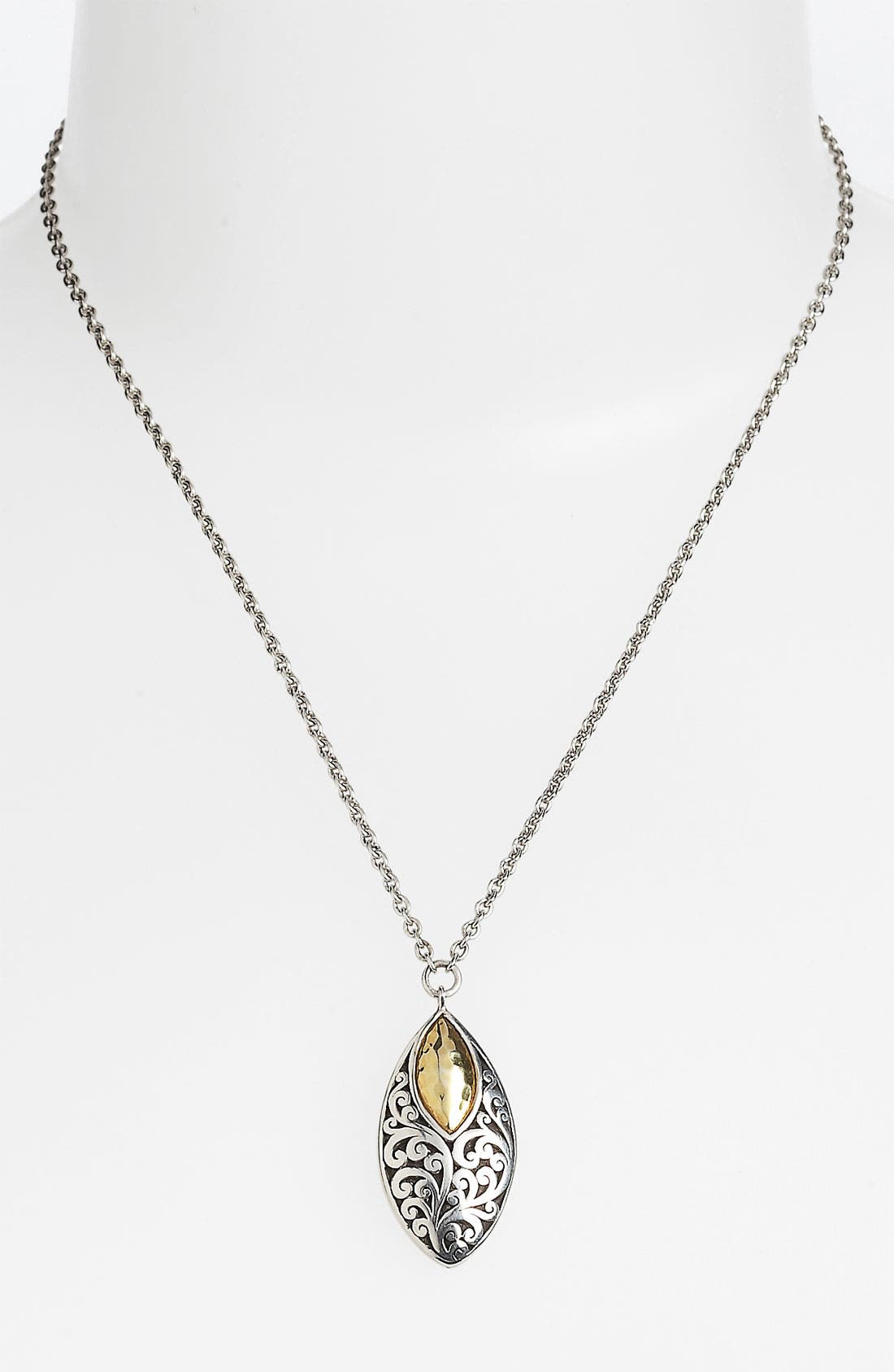 Alternate Image 1 Selected - Lois Hill 'Marquise' Pendant Necklace