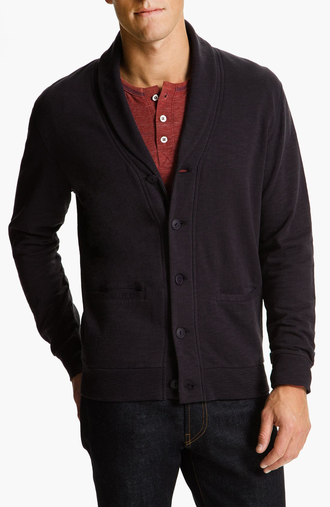 Alternate Image 1 Selected - Threads for Thought Shawl Collar Cardigan