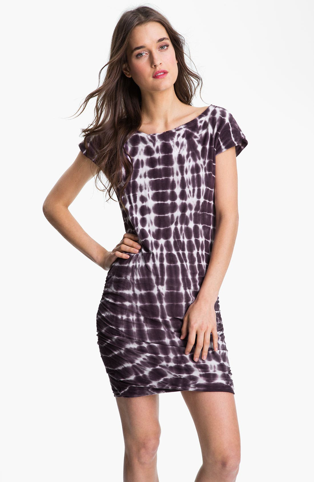 Alternate Image 1 Selected - James Perse Tie Dyed Boatneck Dress