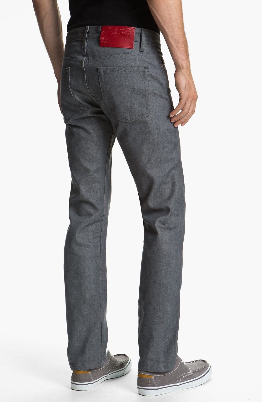 Alternate Image 2  - Naked & Famous Denim Weird Guy Slim Fit Selvedge Jeans (Grey)